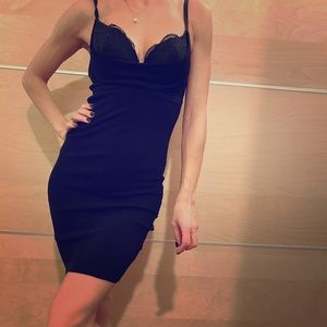 Guess by Marciano Black Bra Mini Dress XS